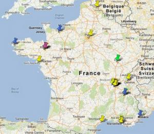 carte du réseau des LéA