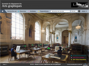 Capture d'écran du site arts-graphiques.louvre.fr